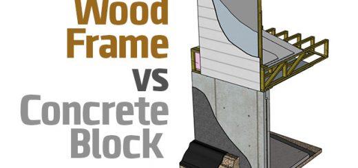 قاب چوب در مقابل بلوک بتونی